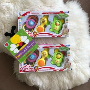 Bundle of baby toys + book
